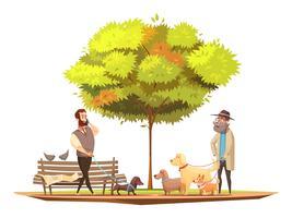 Illustrazione di concetto del cane vettore