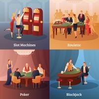 Set di icone di concetto di casinò