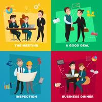 Insieme di concetto di persone di affari vettore