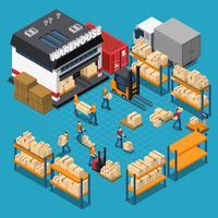 Composizione isometrica del magazzino