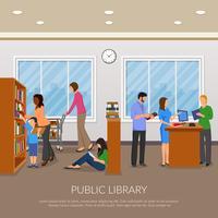 Llustration della biblioteca pubblica