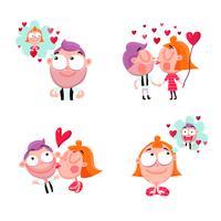 Set di adesivi amore persone