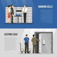 Set di banner di banca vettore