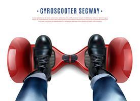 Gyro Scooter Feet Realistico Vista dall'alto