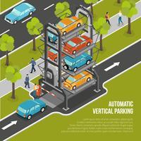Poster di parcheggio auto vettore