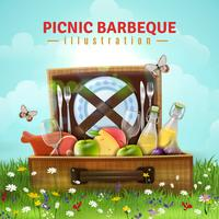 Illustrazione di barbecue pic-nic vettore