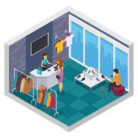 Cercando la composizione isometrica del negozio