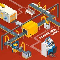 Linea del trasportatore e concetto dell'operatore