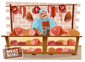 Illustrazione del fumetto del macellaio