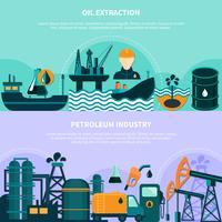 Banner di produzione di petrolio offshore vettore