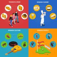 Set di icone di concetto di Spagna
