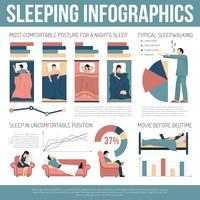 Disposizione di infographics di sonno vettore