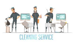 Servizio di pulizia Design cConcept vettore