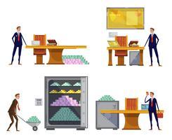 Set di composizioni finanziarie vettore