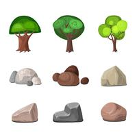 Set di elementi decorativi vettore