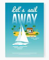 poster di vacanza a vela