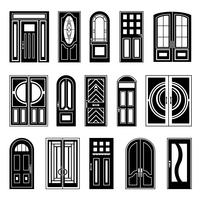 Collezione House Design Black Doors vettore