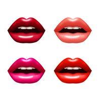 Set labbra donna vettore