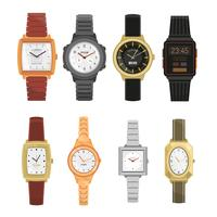 Set di orologi da polso uomo e donna vettore