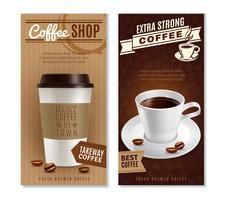 Set di banner di caffè vettore
