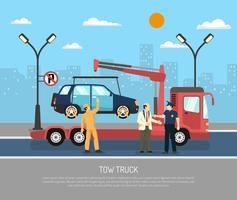 Illustrazione di evacuatore piatto vettore