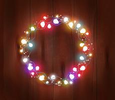 poster ghirlanda di luce natalizia