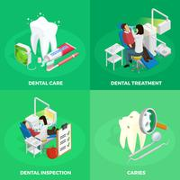 Concetto isometrico di stomatologia vettore
