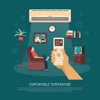 Illustrazione di riscaldamento condizionamento di ventilazione vettore