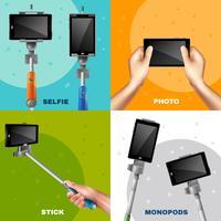 concetto di design monopiede selfie vettore