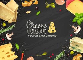 Sfondo delizioso formaggio vettore