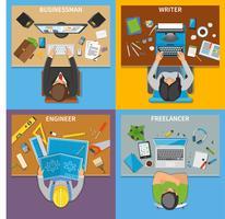 Professioni Vista dall'alto 2x2 Design Concept