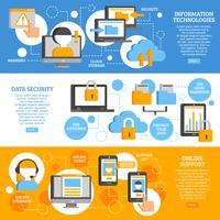 Banner orizzontali di tecnologie dell'informazione