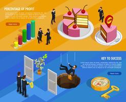 Insegne orizzontali isometriche di sviluppo di affari