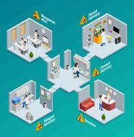 Illustrazione di concetto di laboratorio vettore