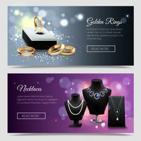 Banner di gioielli realistici