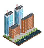 Composizione isometrica di comunicazione wireless città vettore