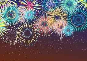 Fondo astratto festivo del fuoco d'artificio