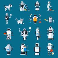 Collezione di robot domestici vettore