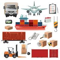 Set di elementi logistici vettore