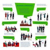 Gente di affari del gruppo infografica