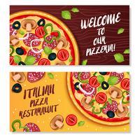 Banner orizzontale di pizza italiana