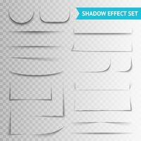 White Paper Cuts Shadow Shadow Set vettore