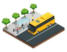 Composizione isometrica di comunicazione wireless della città vettore