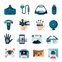 Accessori per realtà virtuale aumentata vettore