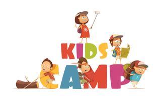 Concetto di campeggio per bambini