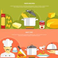 Banner orizzontale piatto di cibo