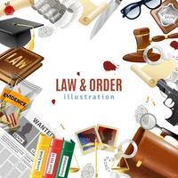 Poster di composizione cornice Law and Order