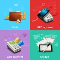 Set realistico di pagamento vettore