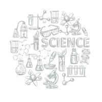 Composizione di concetto di chimica