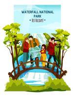 poster di paesaggio di cascata